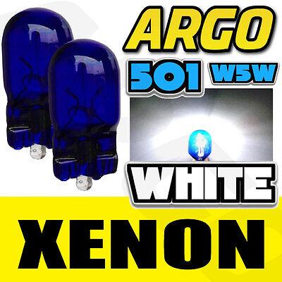 2X XENON BRIGHT WHITE HID T10 W5W SIDELIGHT BULBS