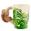 thumbnail 29 - Animal Shaped Handle Ceramic Mug Tea Coffee Cup Novelty Gift Jungle Tropical