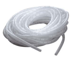 Gaine spiralée  incolore rangement fils câble faisceau Ø 6 à 60 mm 10 mètres