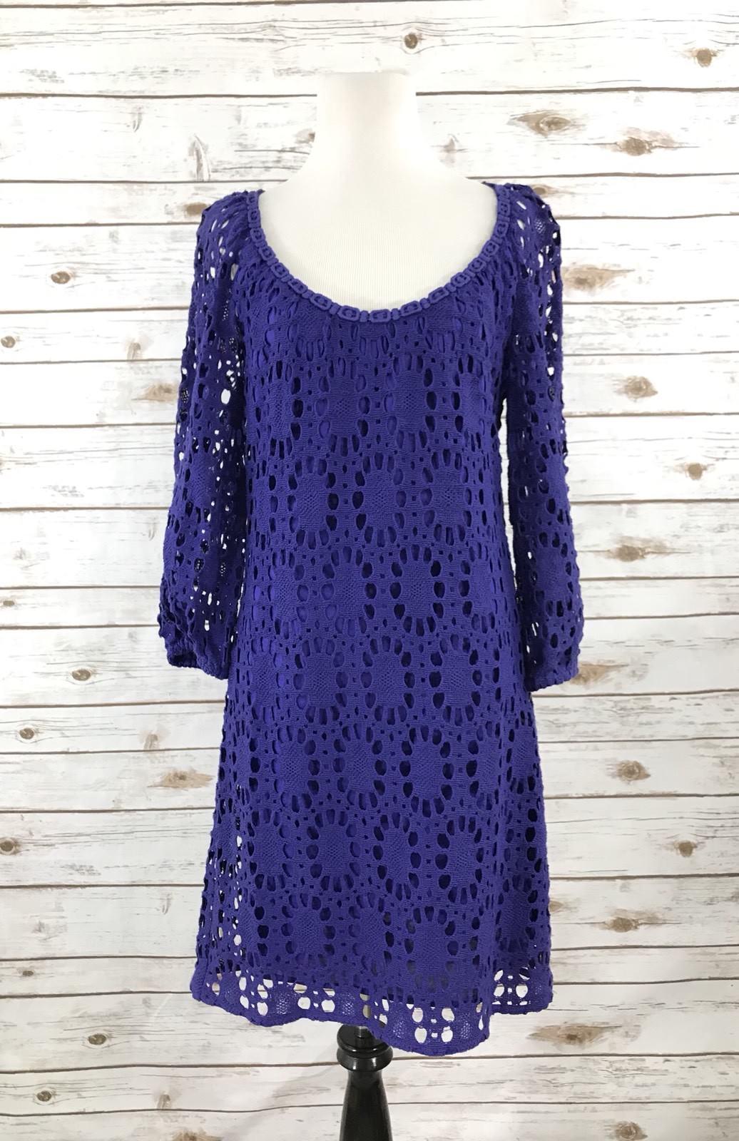 Trina turk wakeboard lace Crochet Blau Größe 8 NEW Msrp