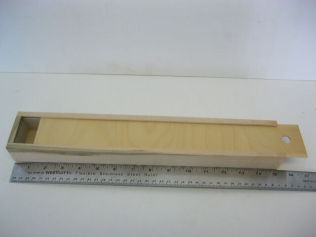 Wooden Artist Brush Box with sliding lid