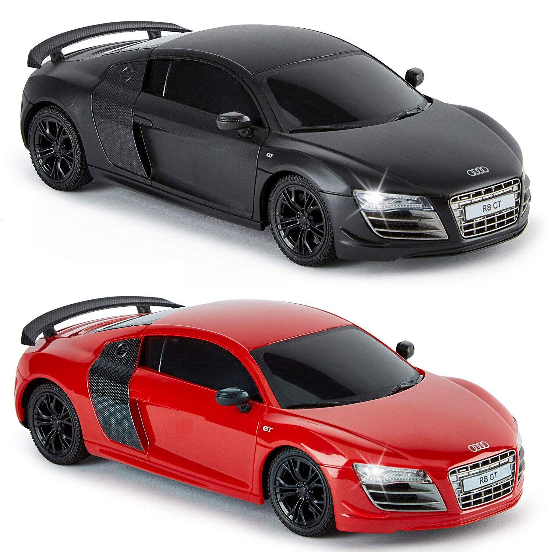 Official Audi R8 GT Replica 1:24 Remote Control Car (Matt Black Or Red) Gift Box