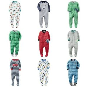 CARTER-039-S-Infant-Boy-Footed-Blanket-Sleeper-Pajamas-Assorted-Fleece-Cotton-NB-24M