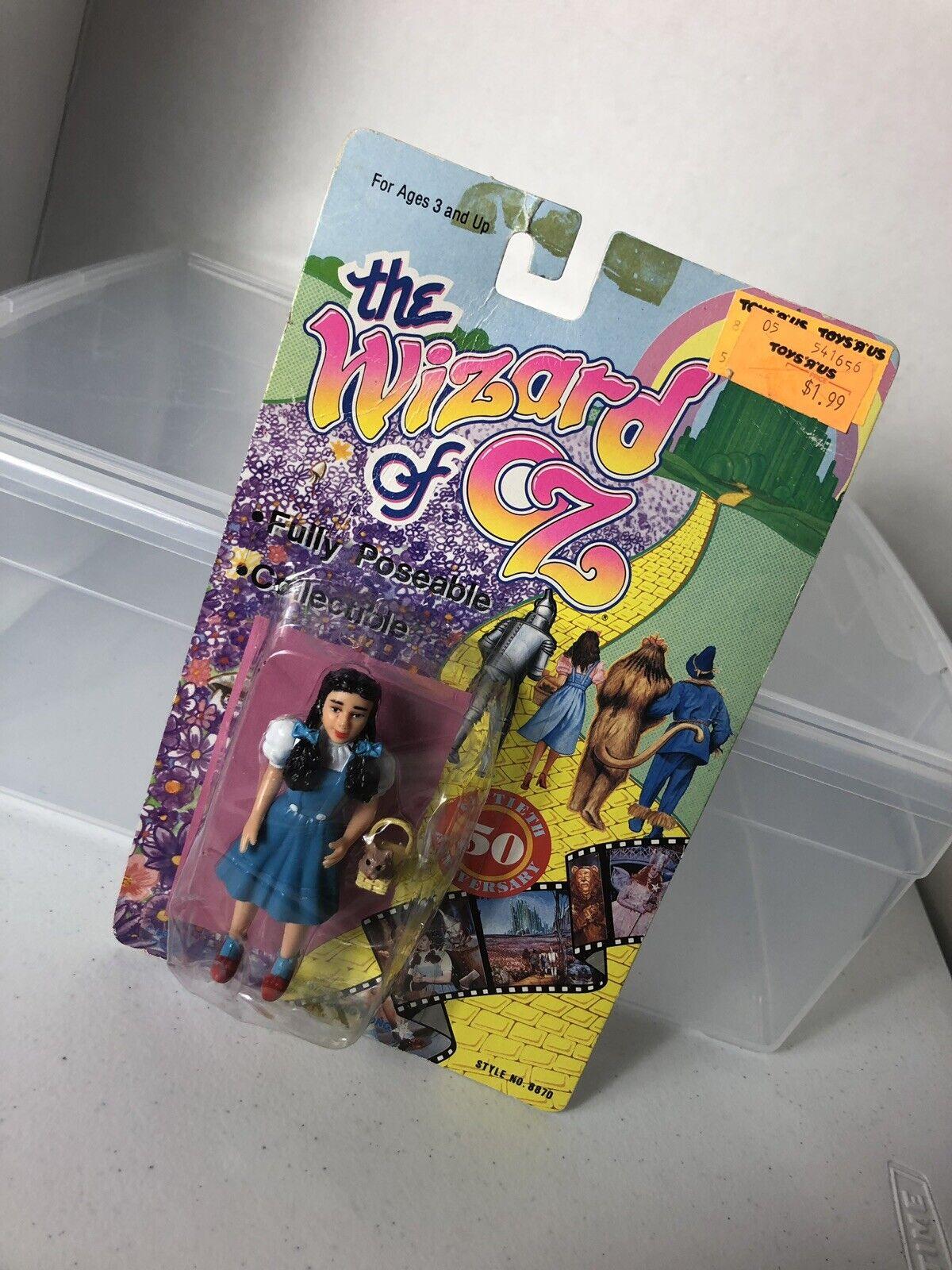 Le Magicien d'Oz 50th ANNIVERSARY Figure Dorugehy et Toto 1988, nouveau Toys R Us Tag