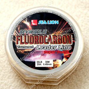 NEW-Sea-Lion-100-Made-in-Japan-Fluorocarbon-Leader-Fishing-Line-30LB-30M