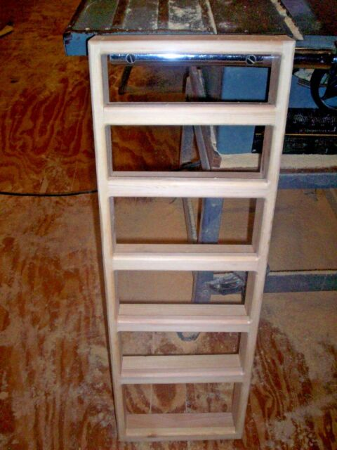 6 Shelf 12 X 36 Solid Pine Wood E Rack Wall Mount With 2 Inch