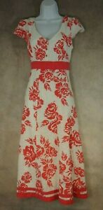 Floral-Cotton-Dress-Size-12-PER-UNA-M-amp-S