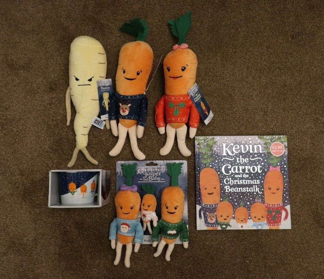 Kevin the Carrot 2018 + Katie + Parsnip + Family + Book + Mug - Complete Set
