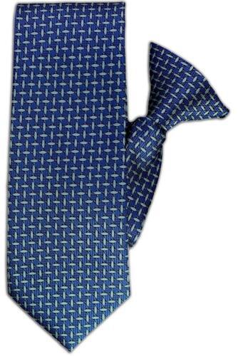 Blue Dash Design Clip On Tie JH-1092