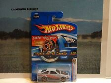 2006 Hot Wheels #2 Grey Toyota AE-86 Corolla w/FTE Wheels