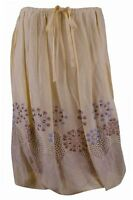 Max Studio Women's Linen Silk Bubble Skirt-yellow-xs on sale