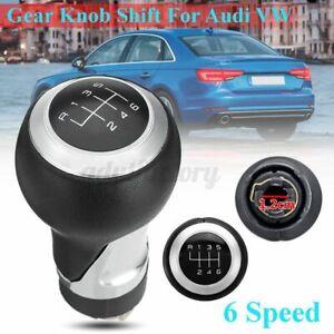6 Speed Manual Gear Shift Knob Black Silver For Audi A4 S4 B8 8K A5 Q5 8R