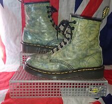 England Made*Rare*Acid Wash*Bleach Blue Green Dr Martens*Marble Tie Dye*Quirky*5