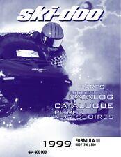 Ski-Doo parts manual catalog book 1999 FORMULA III 800
