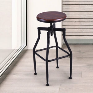 Groovy Details About Height Adjustable Vintage Industrial Style Swivel Metal Counter Height Bar Stool Pdpeps Interior Chair Design Pdpepsorg