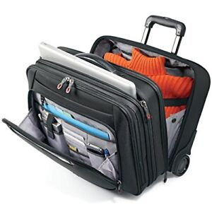 sports shoes 1e8df 908e9 Details about Samsonite Mobile Office Travel Bag 49354-1041 Black Fits 13'  to 17.3'