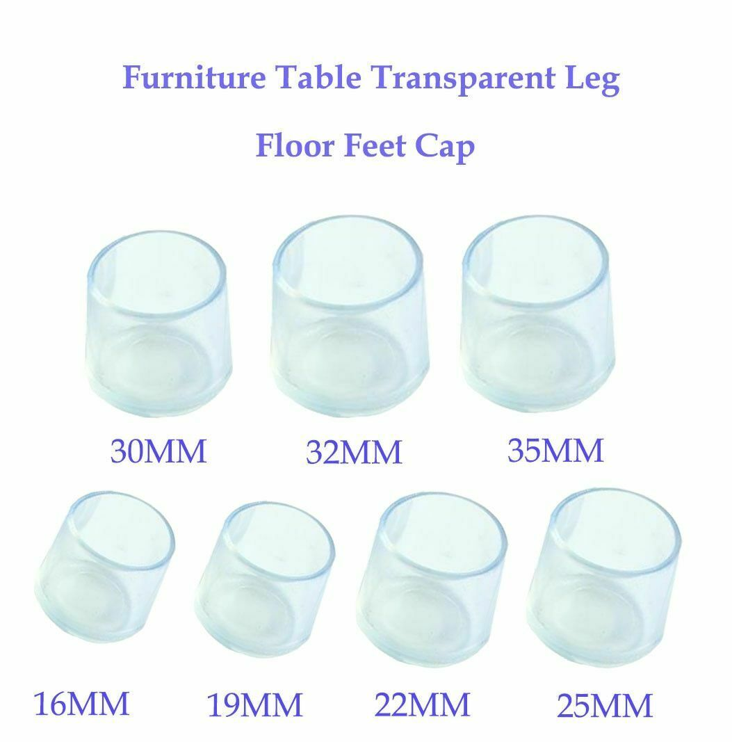 Chair Leg Silicone Caps Pad Furniture Table Feet Cover Floor Protector 8pcs Pack