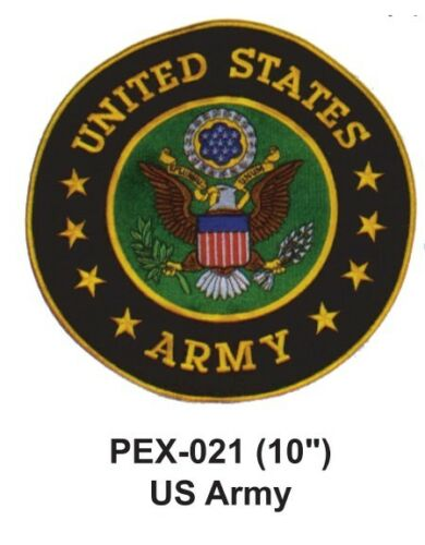 """US ARMY Embroidered Military Extra Large Patch OFFICIALLY LICENSED 10/"""""""