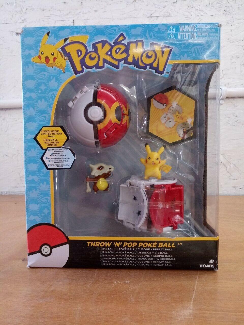 Cubone /& Repeat Ball Figure Pokemon Throw /'n/' Pop Pokeball Pikachu /& Poke Ball