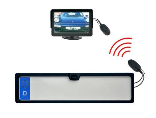Cámara de visión trasera color soporte de matrícula de monitor 4.3 pulgadas funkübertrager