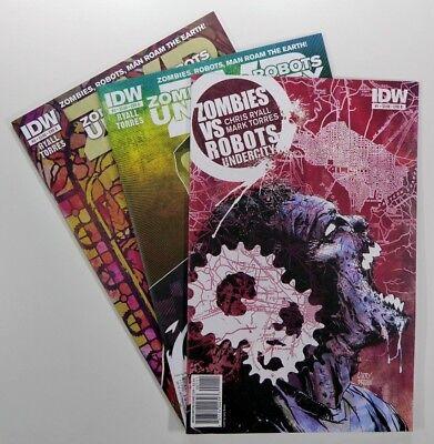 2011 Idw Zombies Vs Robots Undercity #1 2 3 Lot Set Run Vf/nm Ships Free!