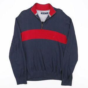 Nautica Blue Classic 1/4 Zip Pullover Herren XL
