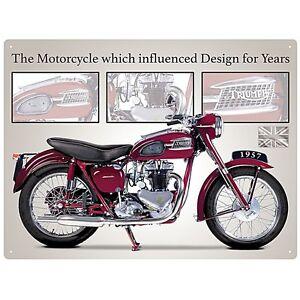 TRIUMPH-SPEED-Doble-Motocicleta-034-Influenced-Diseno-Para-Anos-034-Senal-De-Metal