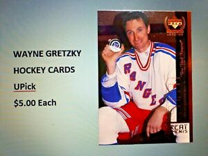 WAYNE GRETZKY Hockey Cards (UPick from the List $5.00 each)