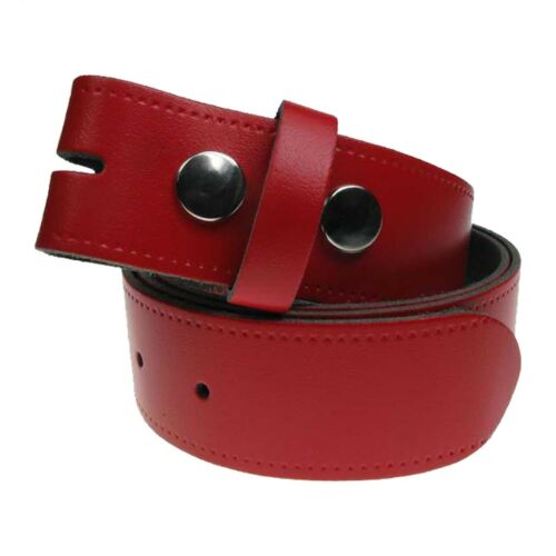 Nouveau Authentique Cuir Complet Pression Snap On Homme Ceinture en cuir Made in the UK