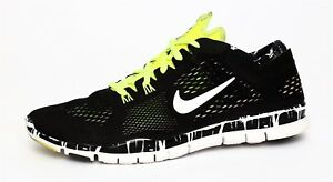 c6ba4f06a349 Nike Free 5.0 TR Fit 4 Women s Black Lime Green Running Shoe Sz 7.5 ...