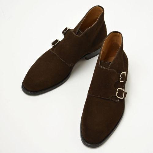 Herren HANDMADE DOUBLE DOUBLE DOUBLE MONK CHUKKA Stiefel  Herren BROWN SUEDE LEATHER HUNTER Schuhe 586587
