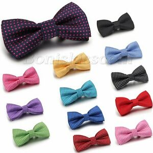 Kid-Boy-Polka-Dots-Bow-Tie-Bowknot-Dress-Neckwear-Pre-tied-Tuxedo-Baby-Bowties