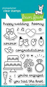 Image Is Loading Lf887 Lawn Fawn Hy Wedding Stamp Set Engagement