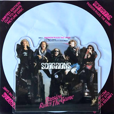"""SCORPIONS - Passion Rules The Game (7"""") (Shaped Picture Disc) (VG+/EX)"""