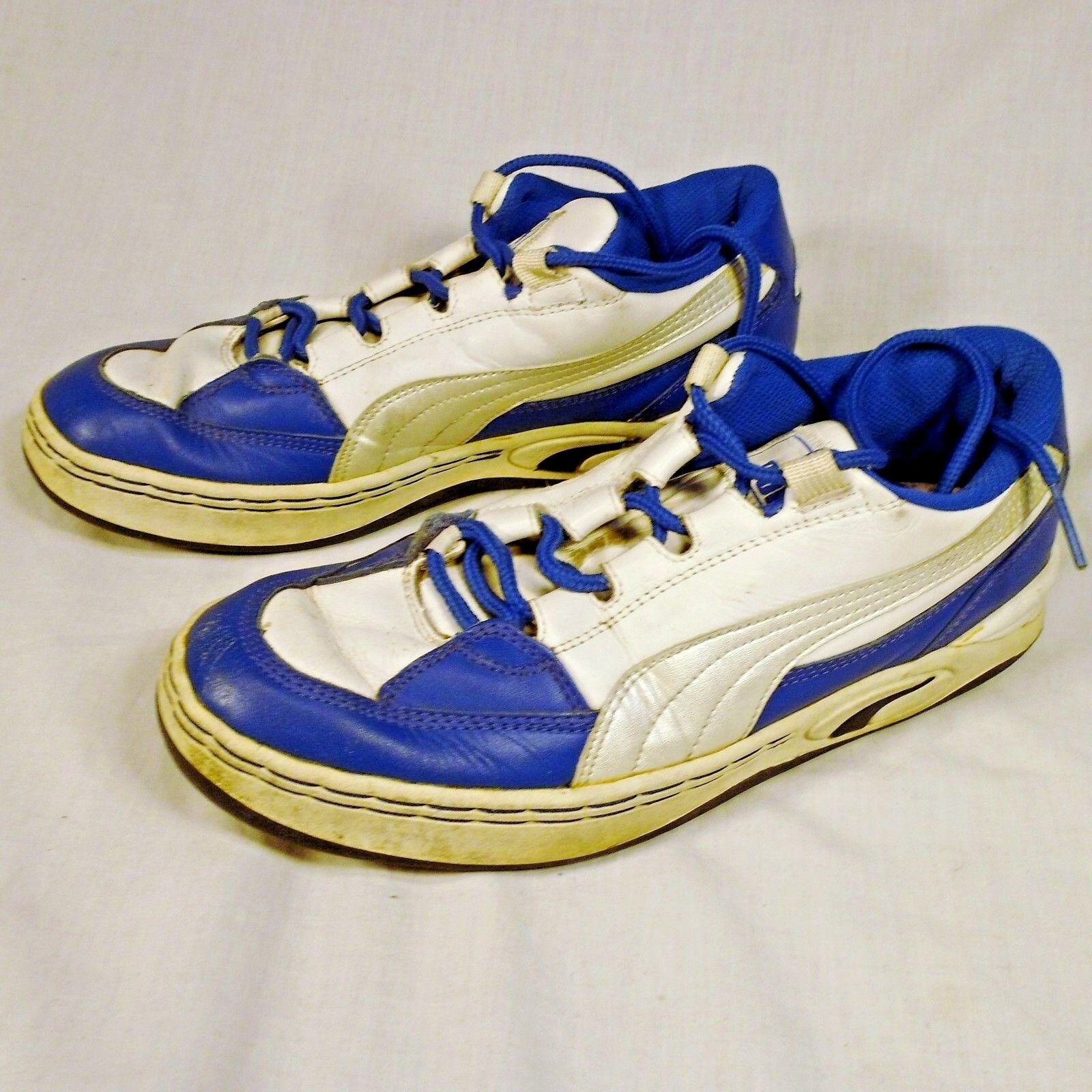 Puma Running Shoes White Blue Size 8 Athletic 341540 01 Athletic