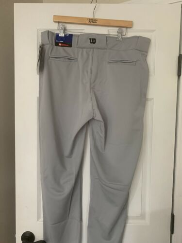 Wilson Mens Baseball Pants XL X-Large NWT Grey Gray Classic Fit