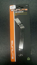 Sunlite Bicycle Steel Tire Levers-Set of Three-fit over spokes to stay in place