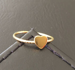 18K-Gold-925-Sterling-Silver-Love-Heart-Ring-Band-Stack-Size-6-7-8-8-5-9-9-5