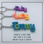 miniature 8 - Multi-colour Personalised Keyring, 3D printed keychain, Gift Tag,Stocking Filler
