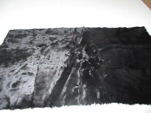 Tierfell Teppich Fell Kaninchen Schwarz Kaninchenplatte Basteln