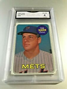 TOM-SEAVER-HOF-1969-Topps-480-GMA-Graded-4-VG-EX