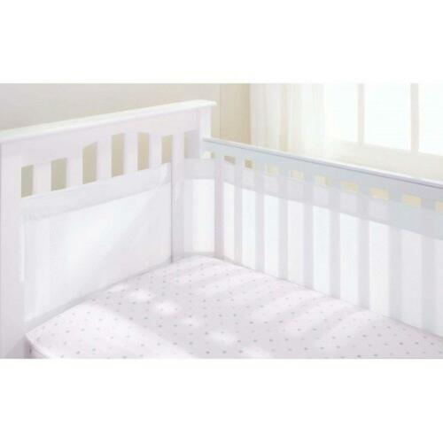 Airflow Breathable Cot Bumper 4 Sided Adjustable Mesh Baby Cot Cotbed Bumper New