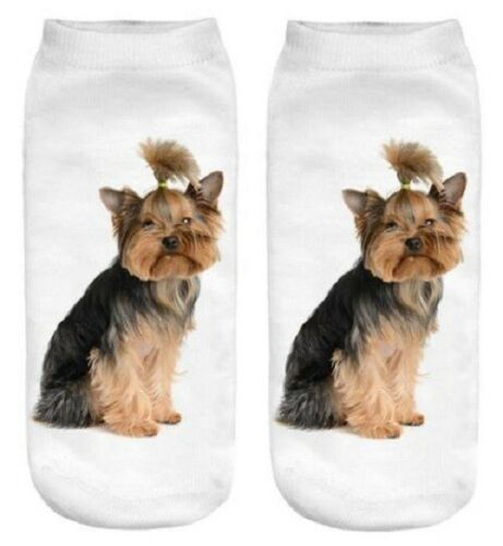 Yorkshire Terrier Dog Unisex Cute Giftwrapped Trainer Sock Quality Gift Free P/&P