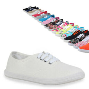 5ad22c20da0a42 Das Bild wird geladen Damen-Sneakers-Trendfarben-Stoffschuhe-71233- Sportschuhe-Gr-36-