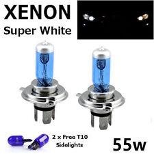 H4 60/55w SUPERWHITE XENON 472 UPGRADE HID Headlight Bulbs 12v +501 Sidelights G