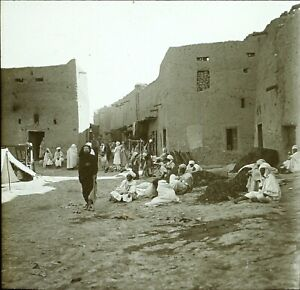 MAGHREB-Maroc-Algerie-Tunisie-c1900-Photo-Stereo-Vintage-Plaque-Verre-VR8L3