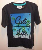 Brand Copper Denim Cali Life Boy's Youth Dark Gray T-shirt Size M (8-10)