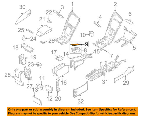 VOLVO OEM 11-13 XC60 Center Console-Cup Holder Rubber Seal 1284528