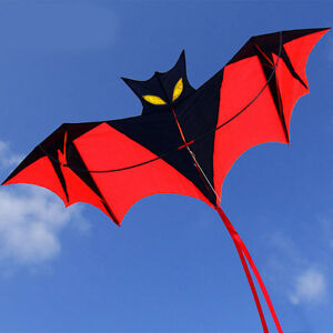 NEW-1-8m-70in-Vampire-Bat-Kite-red-easy-to-fly-great-gift-Outddoor-fun-Sports