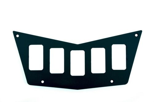 Black Dash Panel CNC Billet 5 Switch Polaris Ranger RZR 800S 900xp 3 BACKLIT